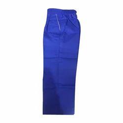 Gabardine Blue Kids School Elastic Trouser