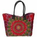Suzani Tote Embroidered Cotton Handbag/Shoulder Bag