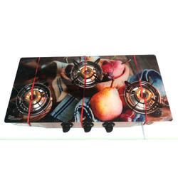 Three Burner Printed Gas Stoves