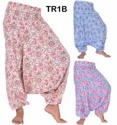 Cotton Hand Block Print Baggy Harem Pants Boho Hippie Gypsy Yoga Trouser TR1B