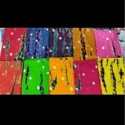 Pure Cotton Tye Dye Bandhej Nighty Fabric, Digital Prints, Multiple Colours