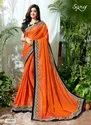 Fancy Pink Georgette Sarees