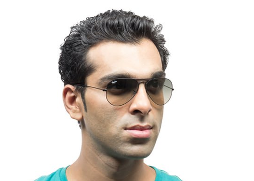 0738b02fed RB3025 002 32 Medium Black Grey Pink Aviator Sunglasses at Rs 6291 ...
