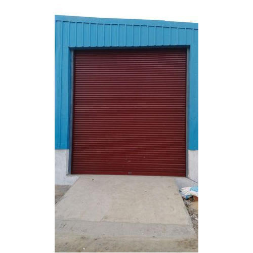 Maroon Metal Push & Pull Rolling Shutters