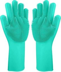 Multicolor Silicon Gloves, For Home