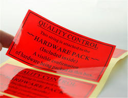 PVC Printed Labels