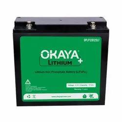 Okaya 12.8 V 12.5 Ah Lithium Ferrous Phosphate Battery