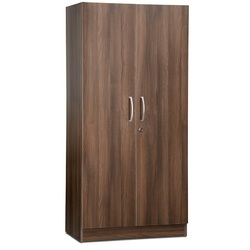 Brown Modular Wooden Wardrobe
