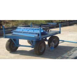 Four-Wheel Mild Steel Construction Site Material Handling Trolley