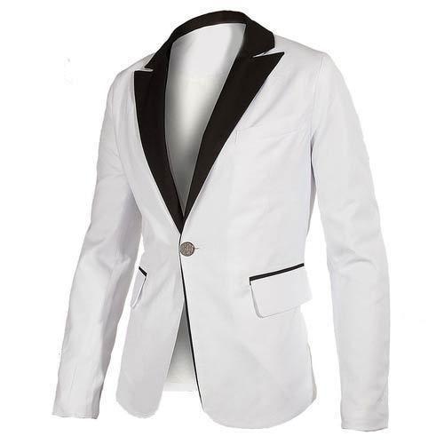 2cbf4f1b1 White And Black Regular Fit Men  s Blazer