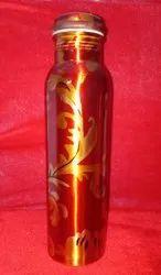 Designed Copper Bottle