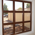 Timbe Brown Upvc Fixed Window, Glass Thickness: 5 Mm