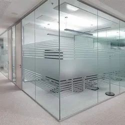 Office Cabin Tough End Glass, Thickness: 5-15 mm