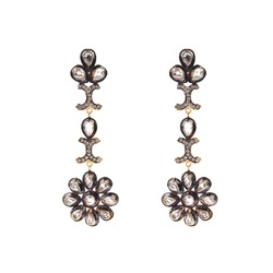 Chandelier earring exporters in india long black chandelier earrings mozeypictures Image collections