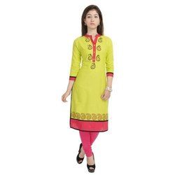 Ladies Green Rayon Kurti
