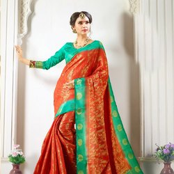 Elegant Wedding Jacquard Saree
