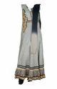 Designer Chudidhar Grey And White Suit