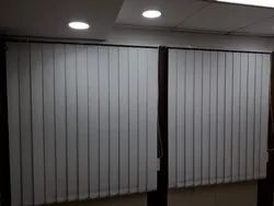 Polyester White Blackout Vertical Blinds, for Office