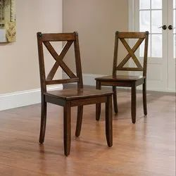Brown Wooden Cross Back Chair for Hotel