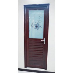 Brown Aluminium Bathroom Door, Hinged