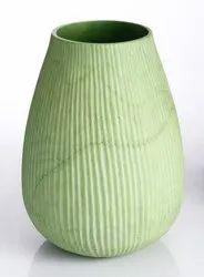 Green Alsa Handicrafts Glass Vase, Shape: Round