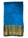 Party Wear Golden Zari Work Raw Silk Saree