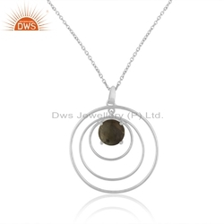Natural Labradorite Gemstone Sterling Fine Silver Pendant Jewelry