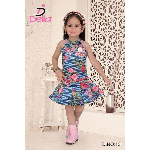 77c59783cc62 Della Cotton Kids Party Wear Printed Frock, Rs 450 /piece | ID ...