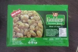 Golden Green Packed Raisins, Packaging Type: Plastic Box