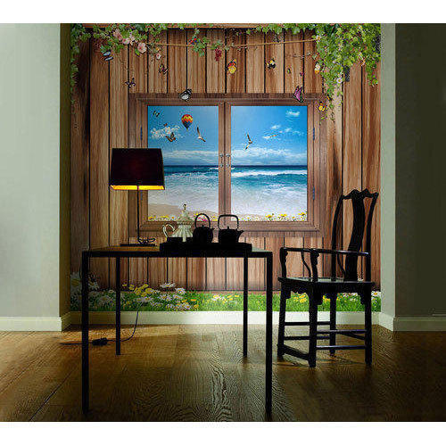 3d Rustic Printed Window Wallpaper Rs 85 Square Feet Look Interior Concepts Private Limited Id 20319061997