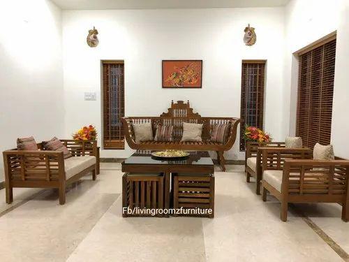 Lrf Traditional Teak Wood Sofa Set For, Traditional Teak Wood Sofa Set Designs Pictures