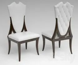 White Wooden Modern Chair, Back Style: Cushion