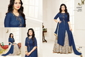 Round Neck Half Sleeve Moof Salwar Suit Fabric