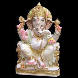 God Marble Ganesh Statue