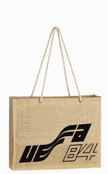 Plain Long Handle Jute Hand Bag
