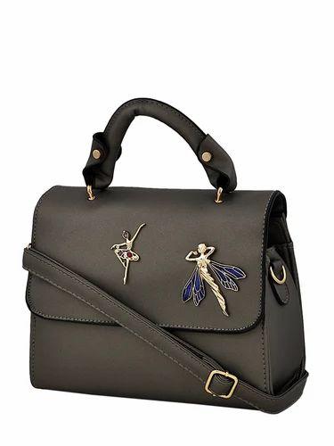 8ac674efbd52 Unbranded Baby Pink and Purple Grey Designer Ladies Hand Bag with Long Belt