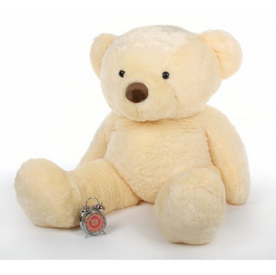 6a37702a6 ToYBULK customized Toy  s Manufacturing Life Size Cream Color Teddy Bear 48  Inch Tall 4