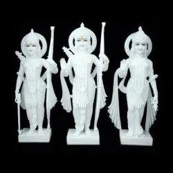 White Marble Ram Lakshman And Sita Statue(Ramdarbar)