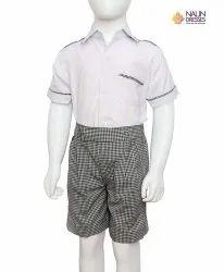 Cotton School Dress For Boys