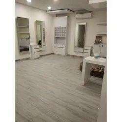 White Streep PVC Vinyl Flooring