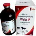 Walter Healthcare Meloxicam 5mg Paracetamol 150mg 100ml Inj., Packaging Type: Box