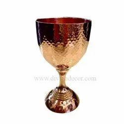 Designer Copper Goblet