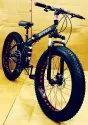 Ferrari Black Fat Tyre Folding Cycle
