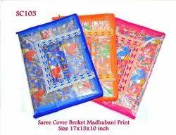 Saree Covers Broket Madhubani Print