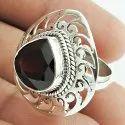 Sizzling Garnet Gemstone Silver Ring