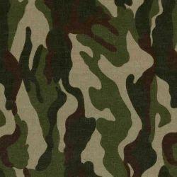 Printed Army Print Fabric