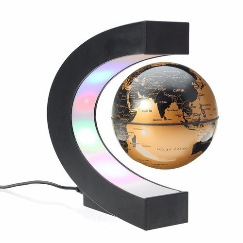 3 c shape magnetic levitation floating globe world map gold at rs 3 c shape magnetic levitation floating globe world map gold gumiabroncs Images