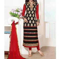 Cotton Party Wear Churidar Suit