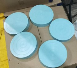 8 Inch Blue Pipe End Cap, Head Type: Round