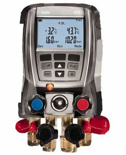Testo 570 4-Valve Digital Manifold Kit With Data Logging